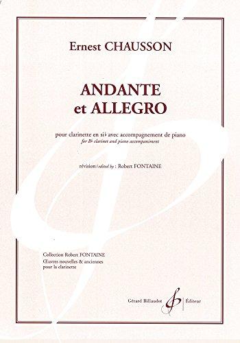 Andante et Allegro pour clarinette en si...