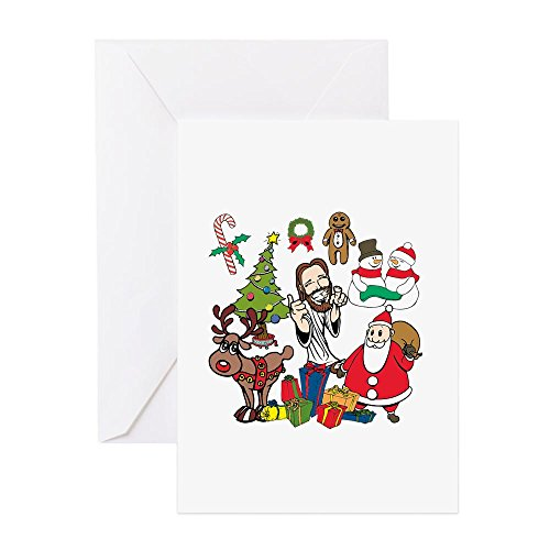 CafePress - All About Jesus! - Grußkarte, Notizkarte, Geburtstagskarte, blanko innen glänzend