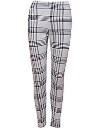 Ex Miss Selfridge Grey Black Tartan Check Plaid Leggings Size 4 6 8 10 12 14
