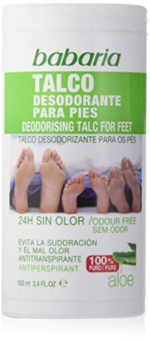 Babaria 1004-20589 Pieds Déodorant Talc 100 g
