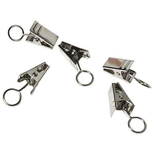 1 X RAYHER - 2135821 - Metall- Metall-Clip 18mm mit Öse, Öse ø8mm, SB-