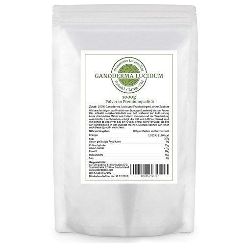 Ganoderma lucidum (Reishi / Ling-Zhi) - 1.000 GR Pulver im Aromaschutzbeutel - Heilpilz, Vitalpilz
