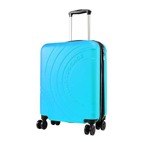 Cabin Max Velocity - Leichter Koffer für die Kabine |ABS-Wagen mit Rädern 55 x 40 x 20 cm Ausziehbar auf 55 x 40 x 25 cm Zugelassen für den Flug mit Ryanair, EasyJet, BA (Biscay Blue)