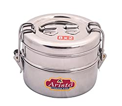 Aristo Tiffin 8x2 Stainless Steel Lunch Box