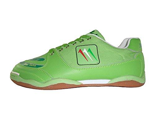 AGLA , Chaussures pour homme spécial foot en salle jaune jaune 27.5 Vert