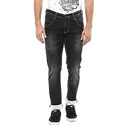 Spykar Mens Skinny Fit Jeans (MACT003-02AF_Black_38)