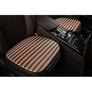 LONG Dreiteilige eisverhülle dreiteilige Autositze für die meisten Autos, Keine Rückenlehne,Brown