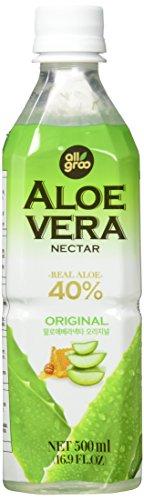Allgroo Aloe Vera Nektar (pur, 40% Aloe Vera, pfandfrei) 12er Pack Vorratspackung (12 x 500 ml)