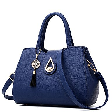 Damenmode Plaid PU Leder Schulter Messenger Bags/Handtasche Tote Blushing Pink