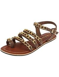 Catwalk Women's Brown Flat Slip Fashion Espadrille