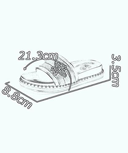CHAOXIANG Pantofole Da Donna Antiscivolo Ciabatte Piatte Sandali Da Surf Nuova Estate Ciabatte Spiaggia ( Colore : C , dimensioni : EU37.5/UK4.5/CN38 ) B