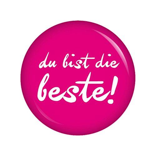 Preisvergleich Produktbild Kiwikatze® Gute Gedanken - Du bist die Beste - 37mm Button Ansteckbutton Pin Gute Wünsche als Geschenk oder Mitgebsel
