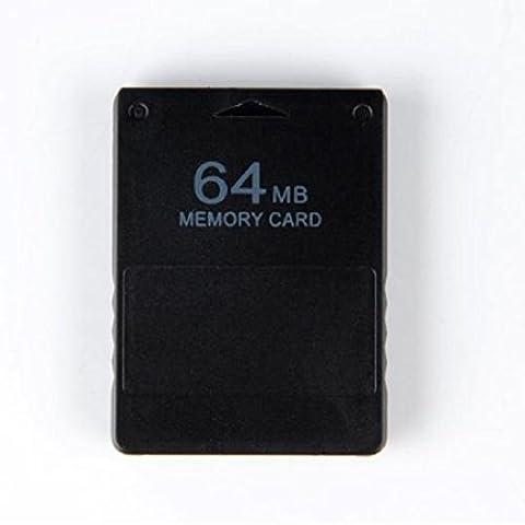 Carte Mémoire Memory Card 64Mo pour Console PS2 Playstation 2 Noir