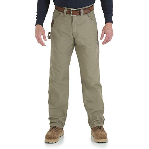8b2ea370 Riggs Workwear By Wrangler Men's Ripstop Carpenter Jean,Bark,42x36