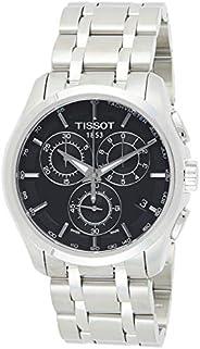 Tissot Men's Black Dial Color Metal Strap Watch - T035.617.11.05
