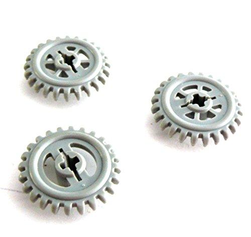 Preisvergleich Produktbild LEGO ® Technic - 3 Stück - Zahnrad Zahnräder 24 Zähne - 25 mm Durchmesser - hellgrau - 3650
