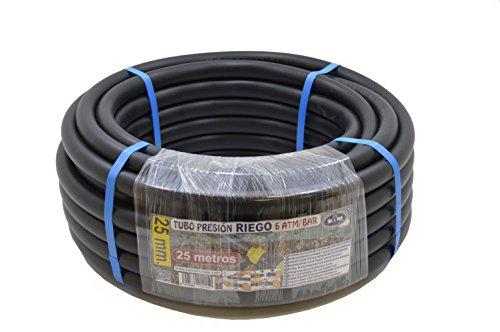 S&M 012150 Tuyau d'arrosage en polyéthylène 25 x 6 atm 25 m Noir
