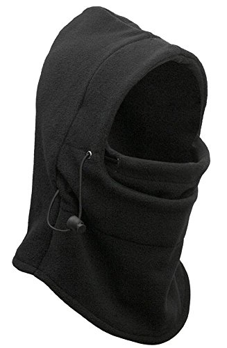 NIKAVI Balaclava Mask Face Ski Neck Muff Full Winter Cap Fleece Outdoor Protecting Hat Cover- BIKE ACCESSORIES (FULL BLACK)