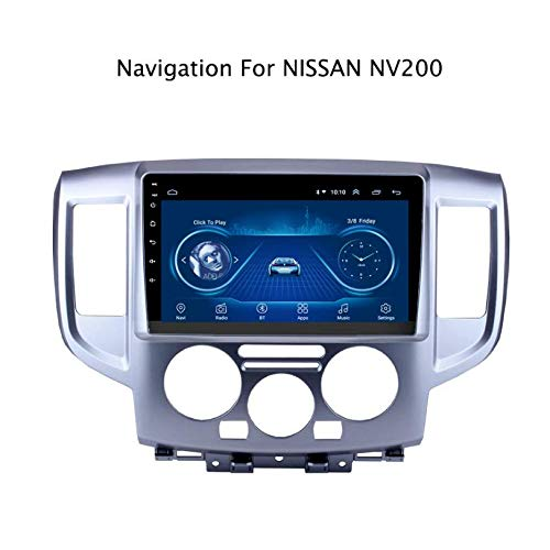Hahaiyu 9-Zoll-Autoradio-Stereonavigator-MP5-Player für Android 7.1, Touchscreen des GPS-Radio-Stereos 2.5D, WiFi, Bluetooth, Nissan NV200 2014-2018 aufhebend