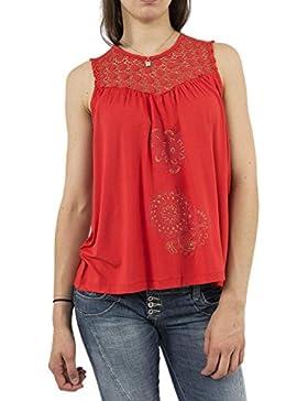 Desigual Camiseta Garance roja de Mujer.