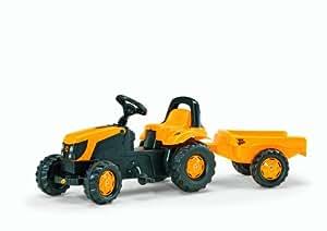 Rolly Toys - 01 261 9 - Tracteur À Pédales - Rollykid Jcb + Remorque