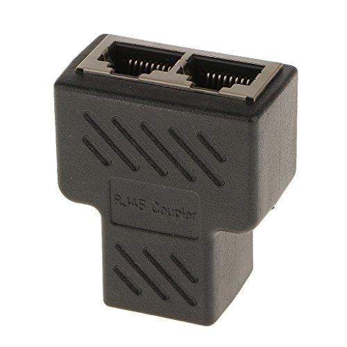 1vers 2 Port LAN RJ45 Adaptateur Connecteur Répartiteur De Réseau Ethernet