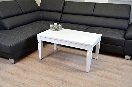 Euro Tische Barock Couchtisch Wohnzimmer Lack Tisch Beistelltisch Kratzfest Hochglanz weiß