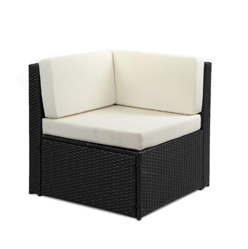 Rattan Corner Sofa Abreo: Abreo Rattan Modular 7 Seater Corner Sofa Set Outdoor