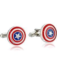 Marvel Comics Men's Stainless Steel Captain America Cuff Links