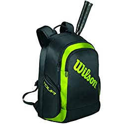 Wilson Bolsa de bádminton Unisex, Espacio para 2 Raquetas, 33 x 24 x 48 cm, WRR614900, Negro/Verde