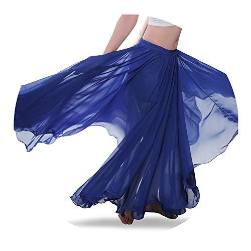 juan 9 Gewellter Bauchtanzrock Bellydance Kleid Kleidung Kleidung Kostüm Gr. Einheitsgröße, dunkelblau