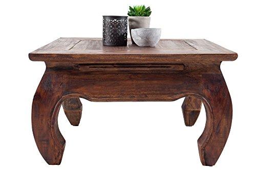 Wohnzimmer Mahagoni Couchtisch (DuNord Design Couchtisch Beistelltisch OPIUM Mahagoni Massiv 60cm Retro Antik Tisch Shabby)