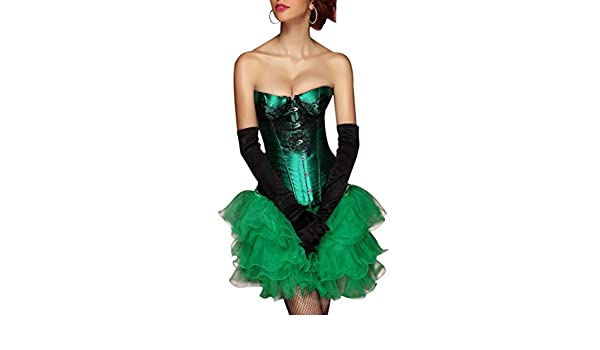 -Many Colours Beautiful Burlesque Corset and Tutu Skirt Fancy Dress Costume Outfit Moulin Rouge Plus Size 8-24 XL-UK-14, black-070