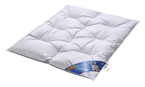 ARO Artländer 9043100 Bettdecke - Kinder - Karo, polnische weiße neue Federn und Daunen 15%, waschbar 60°, Größe 100 x 135 cm