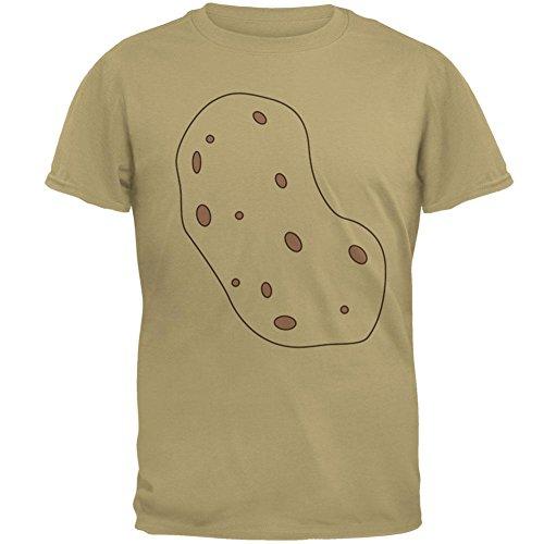 Gemüse, Ich Bin ein Kartoffel Kostüm Herren T Shirt Tan SM (Kartoffel-halloween-kostüm)