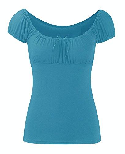 Chocolate Pickle ® Femmes Tie Knot Gypsy Plus Vêtements désinvolte Taille de Boho Turquoise