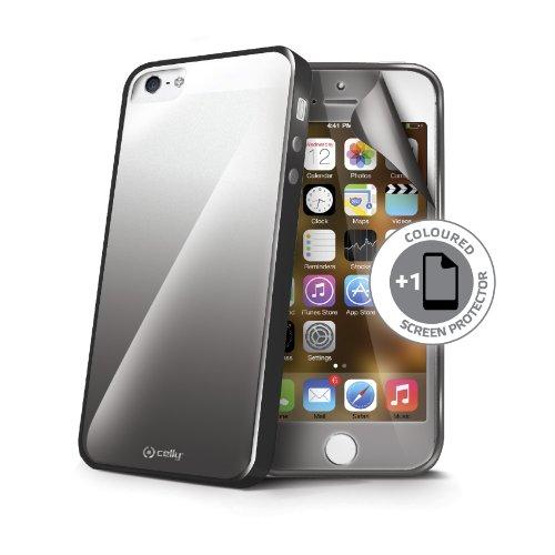 Celly Sunglasses Schutzhülle und Displayschutzfolie für Apple iPhone 5/5S schwarz