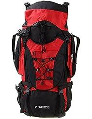 Lightinthebox 70L mochila mochila mochila escalada Camping & senderismo Fitness viajar calor aislamiento impermeable lluvia polvo Proof Wearable, rojo