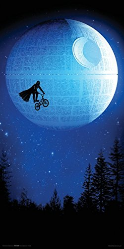 Robert Farkas Dark Ride (E.T., Darth Vader, Star Wars, Star Trek) Geek Modern Contemporary Decorative Art Poster Print 12x24