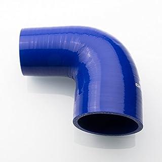 Ø 80mm auf 70mm Silikon Schlauch 90° Reduzierer ( Blau ) Reduzierbogen