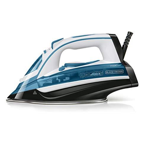 Black+Decker BXIR2400E Plancha de Vapor 2400 W, Plástico, Azul