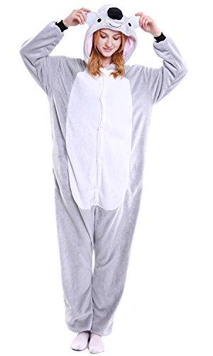 Dolamen Erwachsene Unisex Jumpsuits, Kostüm Tier Onesie Pyjama Nachthemd Schlafanzug Kapuzenpullover Nachtwäsche Cosplay Kigurum Fastnachtskostuem Xmas Halloween (Medium (61