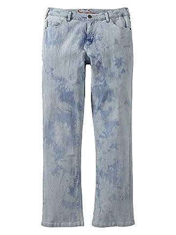 sheego Denim Damen Jeans Übergröße neue Kollektion pastellblau 48/4XL kurz
