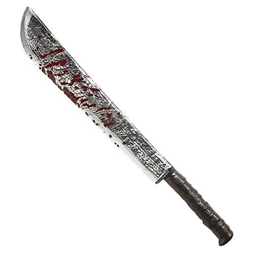 Widmann - Kunststoff Machete mit Blut