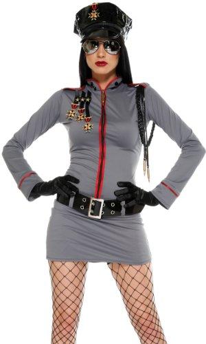 Forplay General Glam Damen-Kostüm, Erwachsenengröße Gr. XS (US Größe) (US Größe), grau