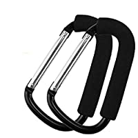 Stroller Hook Organizer Accessories for Hanging Diaper, Shopping Bags, Purses. Fits All Car Seats, Baby Joggers, Prams, shopping carts(2 Pack)