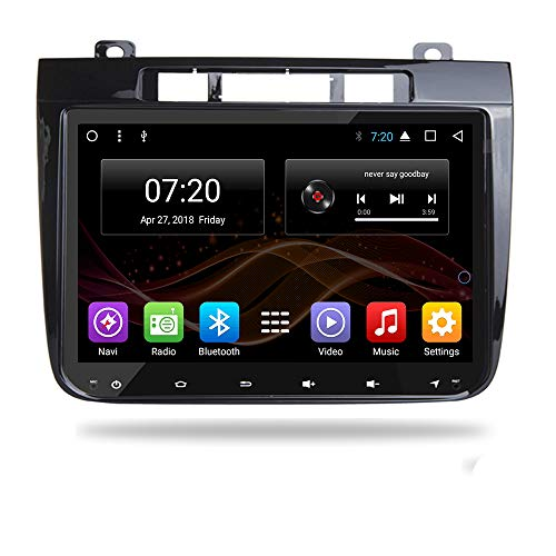 Android 8.1 Car DVD Radio GPS Navigation for Volkswagen VW Touareg 2012-2016 Stereo Audio Navi Video with Bluetooth Calling WiFi (Android 8.1 4/32G for VW Touareg 12-16)