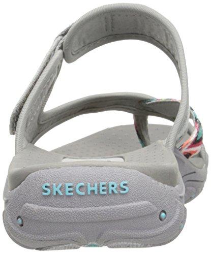 Skechers Ladies Reggae-zig Swag Toe Separator Grigio / Multi