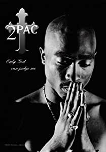 2Pac - Only God can judge me - Posterflagge 100% Polyester - Grösse 75x110 cm