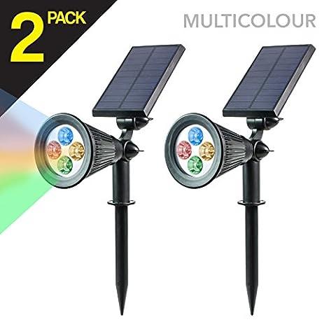 (2PACK) Lampe Solaire Extérieur LED Couleur de 200 lumens à